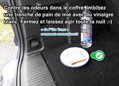 le vinaigre blanc et le pain de mie absorbe les mauvaises odeurs dans la voiture et le coffre Soap, Automobile, Travel, Helpful Tips, Funny Humor Pictures, Funny Humor, Car, Viajes, Motor Car