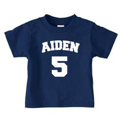 Personalized number and name tshirt for kids by PricelessKids, $16.00