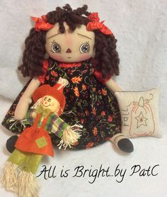Primitive Raggedy Annie Doll - Autumn Annie by Allisbright on Etsy