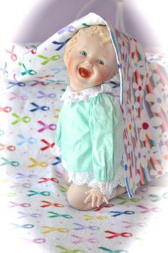 Large Reversible Flannel Baby Blanket Red Pink by OnMuskratCreek