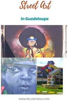 Buoyed by an international art festival, the street art in Guadeloupe is abundant, colorful and diverse. Enjoy my photos from our visit. Cheap Caribbean Islands, Love Graffiti, Murals Street Art, Amazing Street Art, Beautiful Streets, South America Travel, Modern Sculpture, Mexico Travel, Art Festival