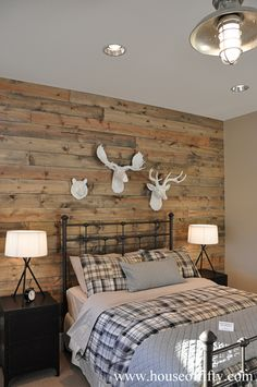 Fixer upper a family home resurrected in rural texas family homes accent walls and couple - Boys basement bedroom ...