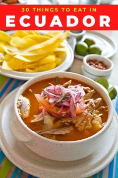 Food in Ecuador is incredibly diverse with pork, seafood and many vegetarian dishes. Here's the ultimate list of what food to eat in Ecuador and Ecuadorian recipes you don't want to miss including Ecuadorian ceviche, hornado, llapingachos, patacones, mote, encebollado. Ecuadorian food recipes. Ecuadorian ceviche recipes. South America travel. South American recipes. South American food. #ecuadorianfood #worldcuisine #ecuador #southamerica American Recipes, American Food, Ecuadorian Recipes, Around The World Food, Culinary Classes, Ceviche Recipe, Food Inspiration, Travel Inspiration, South America Travel