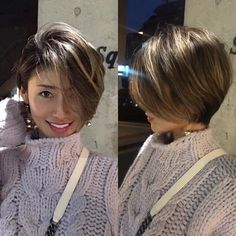 Image may contain: 1 person Asian Short Hair, Girl Short Hair, Short Hair Cuts, Love Hair, Great Hair, Gorgeous Hair, Short Bob Hairstyles, Pretty Hairstyles, Medium Hair Styles
