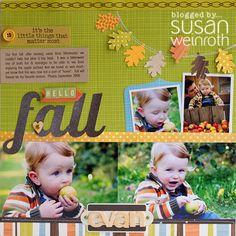 #papercraft #scrapbook #layout Hello Fall