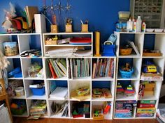 Cubbies make great classroom solutions - hold books, games, toys and just about everything in one place.
