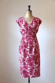 Marilyn Moore dress. pintucked band round the waist