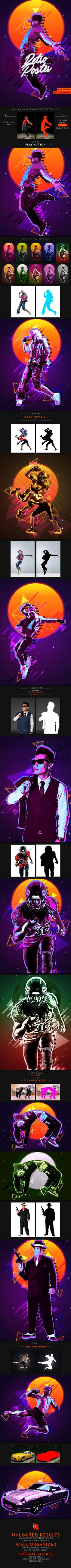 80's Retro Poster Photoshop Action #80's #actions • Download ➝ https://graphicriver.net/item/80s-retro-poster-photoshop-action/21362682?ref=pxcr