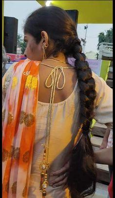 Beautiful Braids, Beautiful Long Hair, Gorgeous Hair, Beautiful Hairstyles, Long Bob Hairstyles, Indian Hairstyles, Bride Hairstyles, Indian Long Hair Braid, Beauty Full Girl