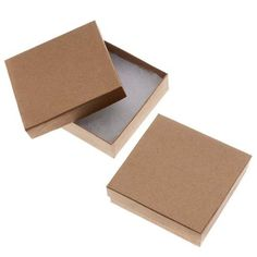 Kraft Brown Square Cardboard Jewelry Boxes 3.5 x 3.5 x 1 Inches by Beadaholique via https://www.bittopper.com/item/kraft-brown-square-cardboard-jewelry-boxes-35-x-35-x-1/