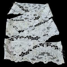 EXQUISITE ANTIQUE BOBBIN lace trim / handmade, exceptional quality / 18th or 19th century / Vieux Flandres, Brussels, Belgian Tape lace