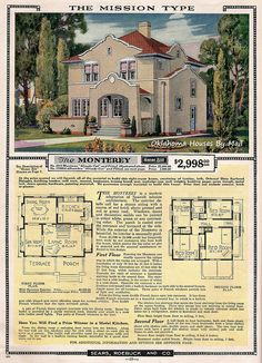 Sears Sears Modern Homes 1924 Monterey