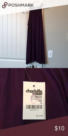 Plum shift dress High neck, plum colored shift dress. Very cute and flowy! Charlotte Russe Dresses