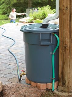 Save water with this DIY rain barrel: Looking for your next project? We have the full instructions for making a rain barrel out of a heavy-duty trash can. Barrel Save water with this DIY rain barrel