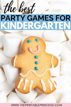 Here are a few of my favorite fun party games for Kindergarten. These holiday games are great throughout the month of December or as part of your holiday festivities. They games require little to no prep and just a few supplies, which will make planning and preparing your classroom holiday party a piece of cake. These party games are great for PreK and First Grade classrooms too!