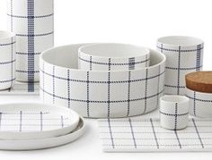 Mormor collection of dishware from Normann Copenhagen. Design playing with the classic and cheap tea towels found in every Danish home. Love it. Would just need one piece....