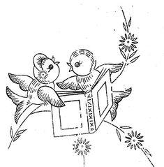 Little Birds embroidery pattern