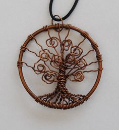 Copper Wire Jewelry Tree of Life  pendant by FlorenHandicrafts, $30.00 #tree #wirework #wirecraft #wirewrapping