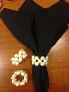 Perolas Pearls, Napkins, Kitchen, Beads, Gemstones, Pearl