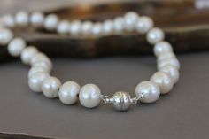 10-13 mm Real Freshwater Pearl Necklace Classic by Wired2BDesired