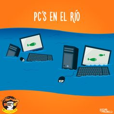 PCs en el río - Happy drawings :)
