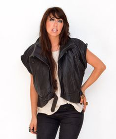 leather jacket  vintage leather motorcycle by FiregypsyVintage, $165.92