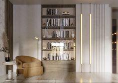 SHADES OF BEIGE on Behance Shades Of Beige, 3ds Max, Floor Design, Modern Luxury, Ground Floor, Lounge, Shelves, Graphic Design, Flooring
