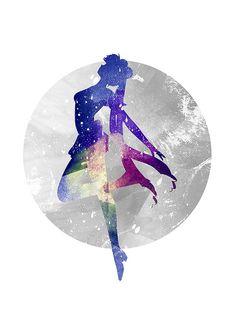 Usagi Sailor Moon Fan Art Aquarell alternative von WatercolorDsgn