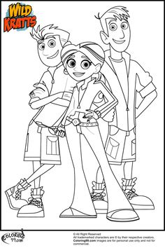 Wild Kratts Coloring Pages Free Online Printable Sheets For Kids Get The Latest Images Favorite