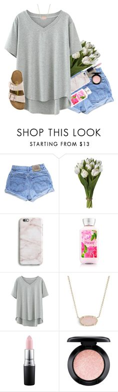 """baby, i just want to dance"" by simplysarahkate ❤ liked on Polyvore featuring Levi's, Harper & Blake, Kendra Scott, MAC Cosmetics and Birkenstock"