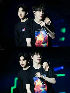 Mom and son. GOT7 Jinyoung and Yugyeom