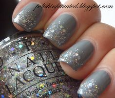 fun holiday nail polish idea. #sparkle