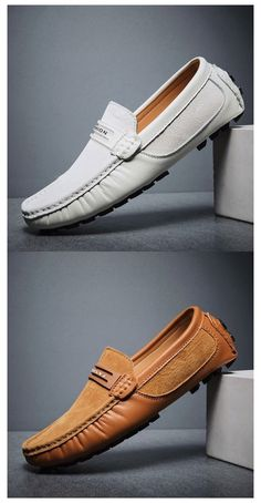Mens Loafers Shoes, Leather Loafer Shoes, Suede Leather, Comfy Shoes, Casual Shoes, Mocassins Luxe, Gents Shoes, Branded Shoes For Men, Driving Shoes Men