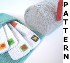 Mailbox and Mail Bag Crochet Pattern von CrochetNPlayDesigns