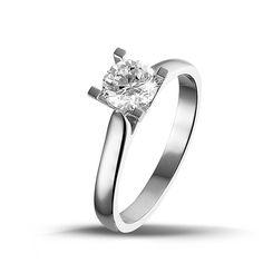 9e95b2054172 0.75 quilates anillo solitario diamante de oro blanco