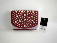 NWT Juicy Couture Sophia Leather Mini G with Stones Port Wine YHRU3483