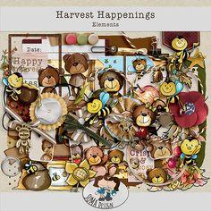 Oscraps.com :: Shop by Category :: All New :: SoMa Design: Harvest Happenings - Kit Happenings, Digital Scrapbooking, Harvest, Kit, Shit Happens, Shop, Design, Events