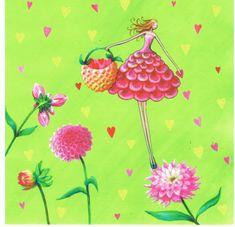 Mila Marquis : La Fée et Les Coeurs - Cartes d'Art/Mila Marquis - Lulu Shop