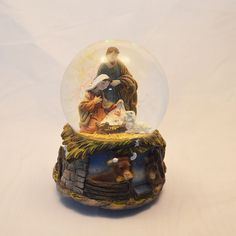 Globo de Neve / Natal - Globo de Neve Jesus, Maria e José – Bau da Cravus