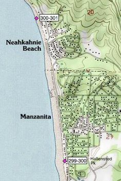 Image result for vintage manzanita oregon tourist map