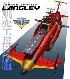 EDF Space Carrier Langley (Space Battleship Yamato- Starblazers universe)