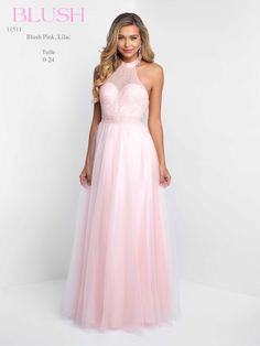 Blush Tulle Pink Prom Dress