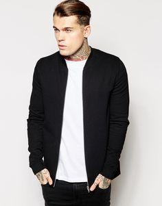 ASOS Jersey Bomber In Black - Een bomberjack mag je niet missen in je garderobe #bomberjack #mensfashion