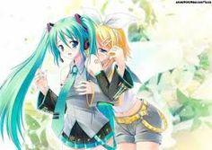 Resultado de imagen para vocaloid miku y rin yuri