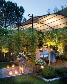 adelaparvu.com despre terasa in gradina mica cu pergola din fier, peisagist  Javier Álvarez de Eulate (3)