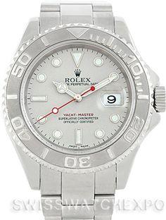 Rolex Mens Steel Platinum Yachtmaster 16622 Watch