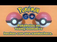 Pokebola en foamy / goma eva hecha con una sanduchera Pokeball 3D Pokemo...