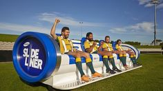 Here's a creative idea called The SLIDELINER which moves across the field with the action. It's being used for the upcoming Rugby Union Wallabies series in Australia