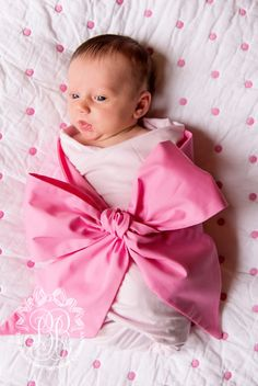 Bow Swaddle ® | The Beaufort Bonnet Company Oh the things our 4th baby will have !! Pink or blue this will be one of the first things I purchase when the time comes :)