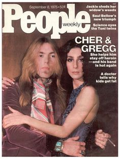 Cher and Gregg Allman on the cover of People magazine, September 1975.